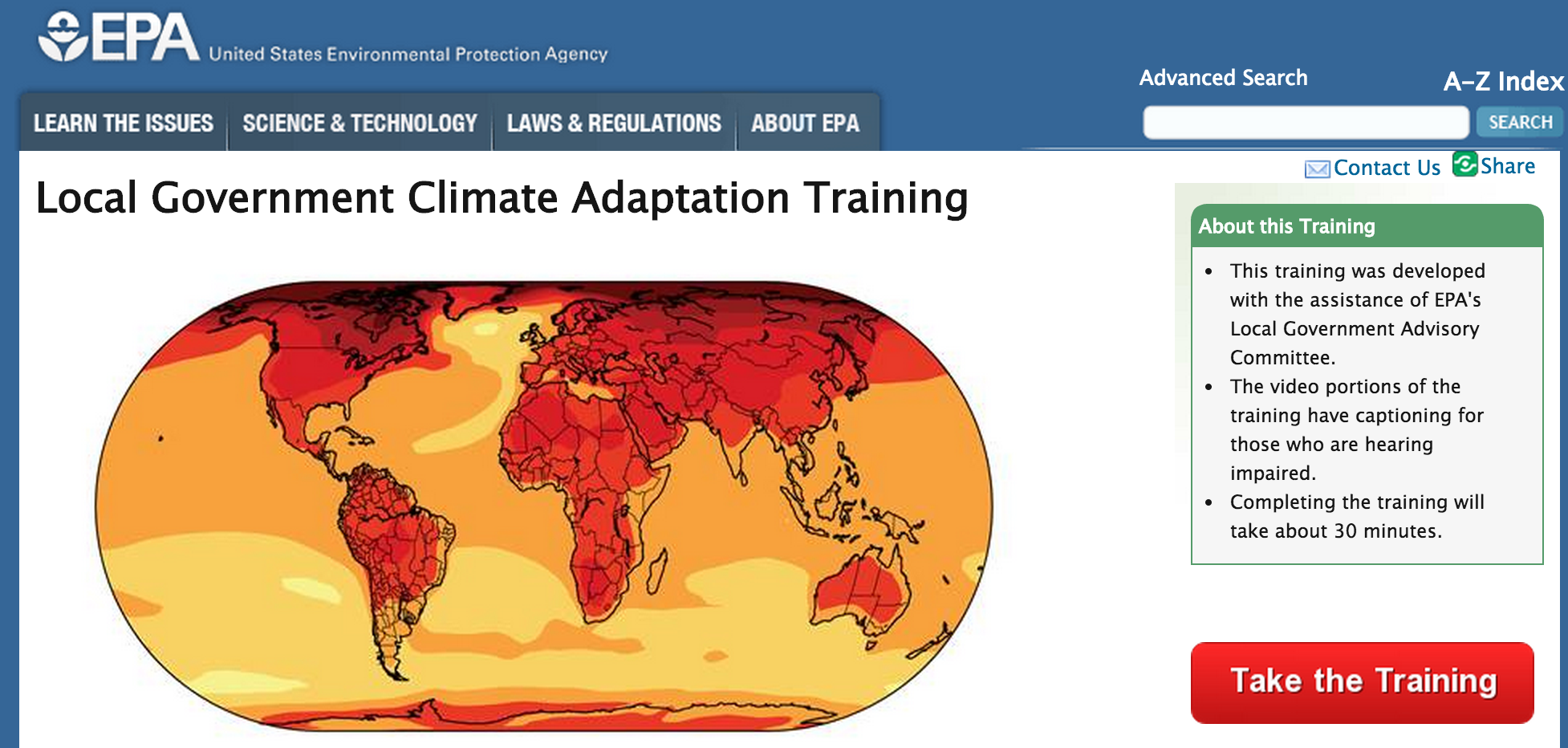 Local Government Climate Adaptation Training