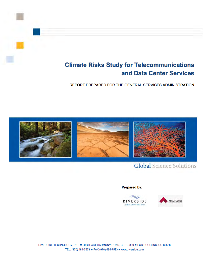 Climate Risks Study for Telecommunications and Data Center Services
