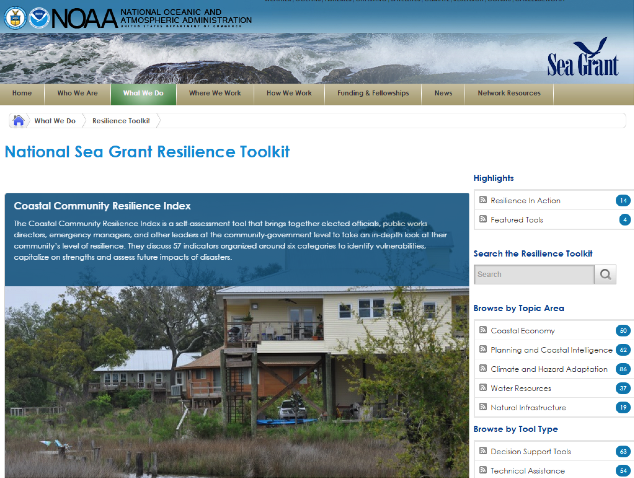 National Sea Grant Resilience Toolkit