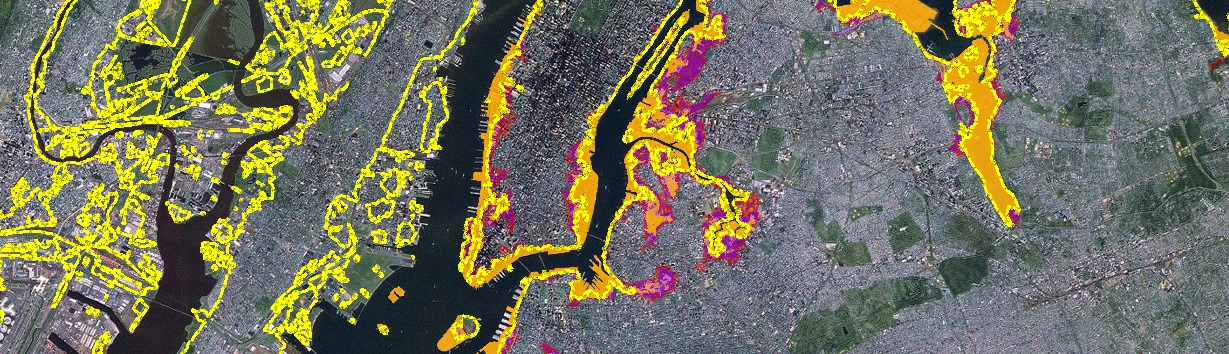 Map of future flood risks for New York City