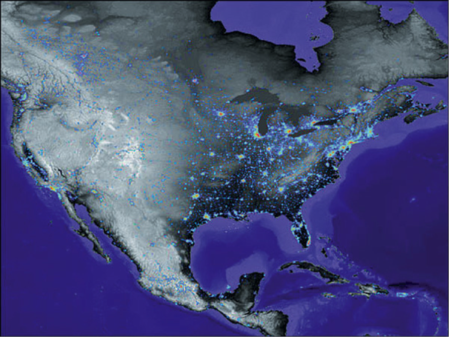 State Department Releases Climate Action Report - Us map lights
