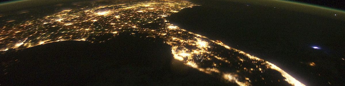The Southeast by night