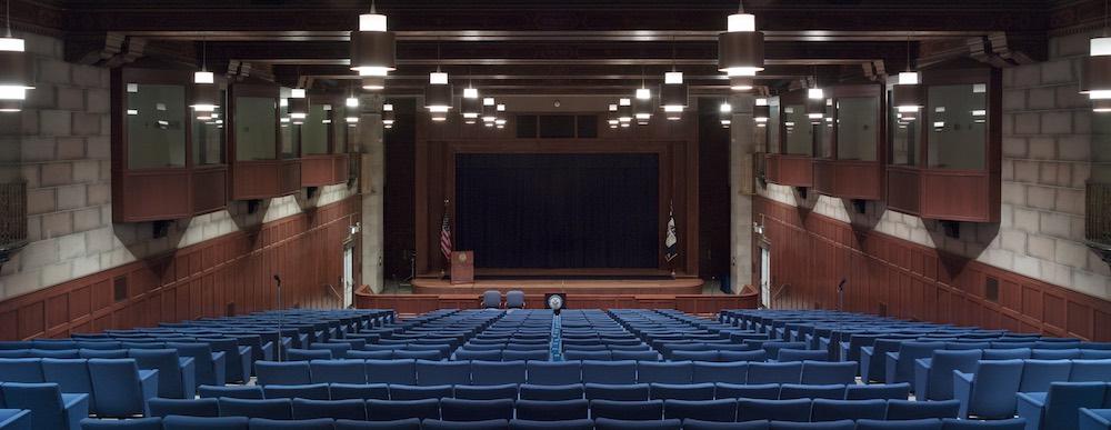 Empty auditorium seats