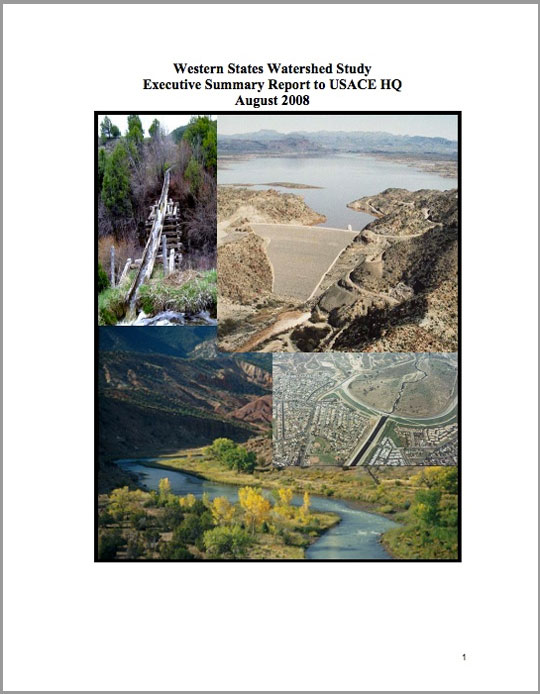 The Western States Watershed Study in the Colorado River Basin