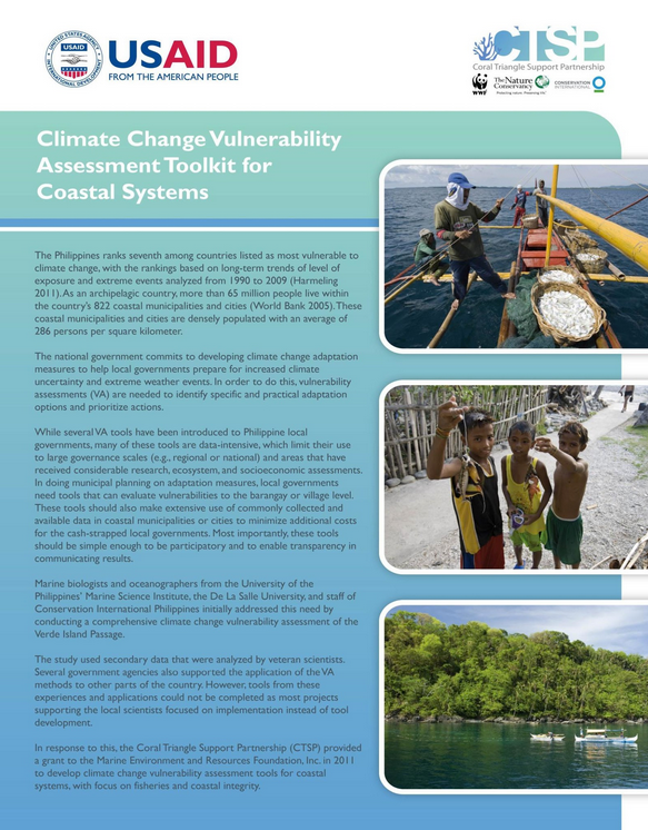 The Climate Change Adaptation Toolkit for Coastal Communities in the Coral Triangle