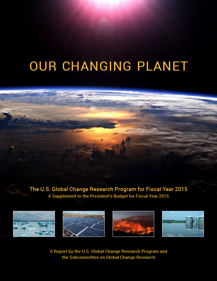 Cover of Our Changing Planet FY 2015