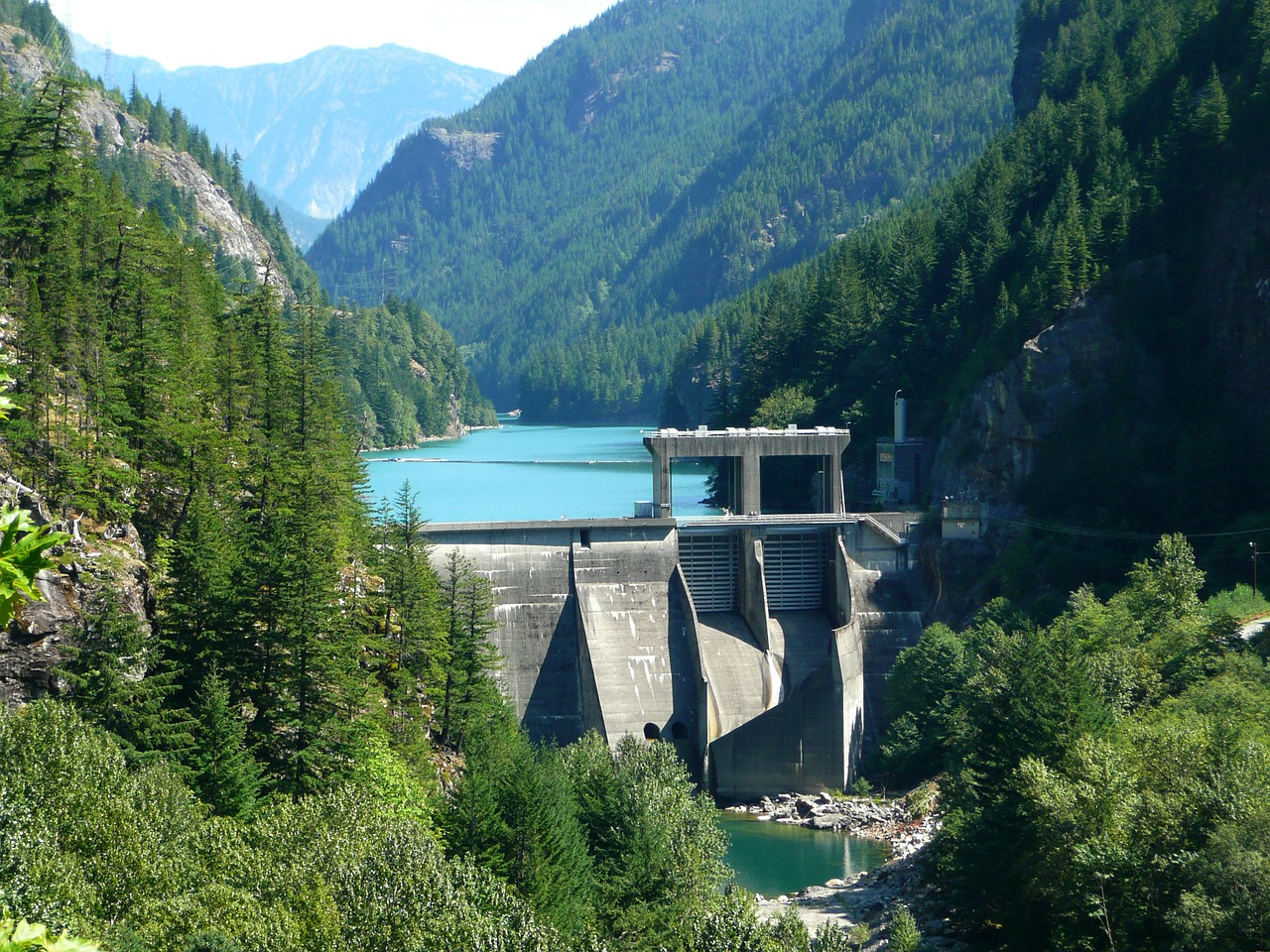 A dam in the Cascade Mountains