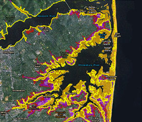 Sea Level Rise Tool For Sandy Recovery GlobalChangegov - Global warming sea level rise map