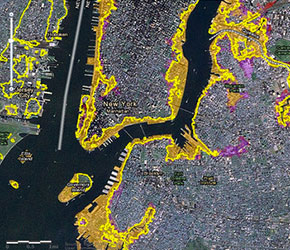 Sea Level Rise Tool For Sandy Recovery GlobalChangegov - Sea rising map
