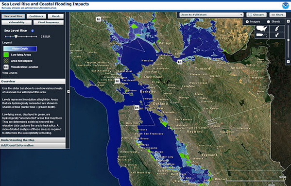 Sea Level Rise and Coastal Flooding Impacts Viewer