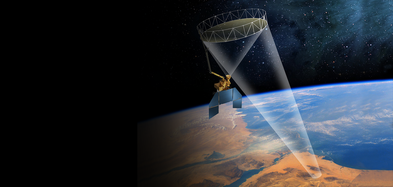 Artist's rendering of the SMAP satellite in orbit