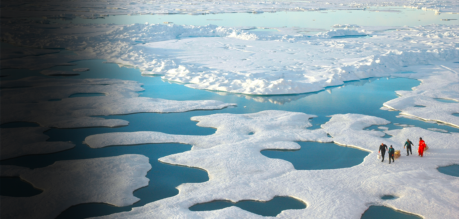 Melting sea ice is one indicator of climate change