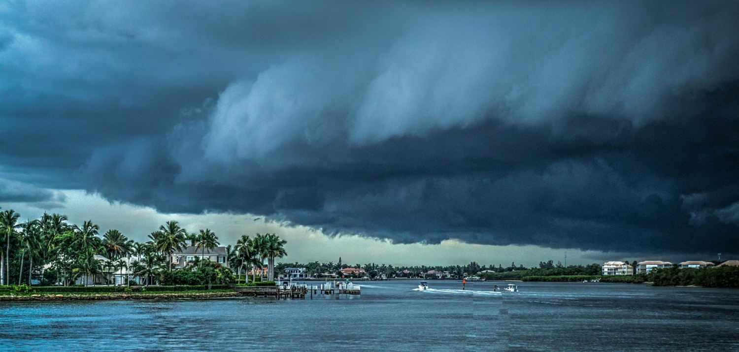 Storm hovering over the Florida coast