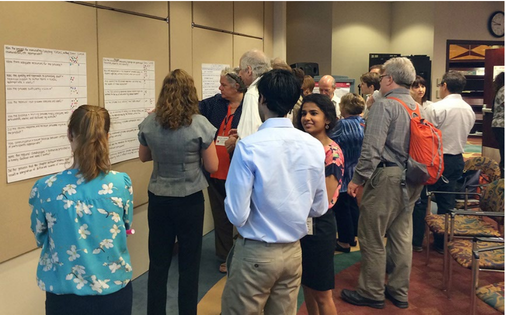 Participants in a brainstorming activity consider approaches for evaluating the Third NCA. (Source: B. Golden-Chen, USGCRP NCO)