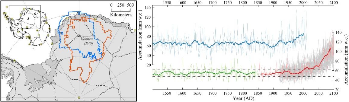 Ice sheet change in Antarctica