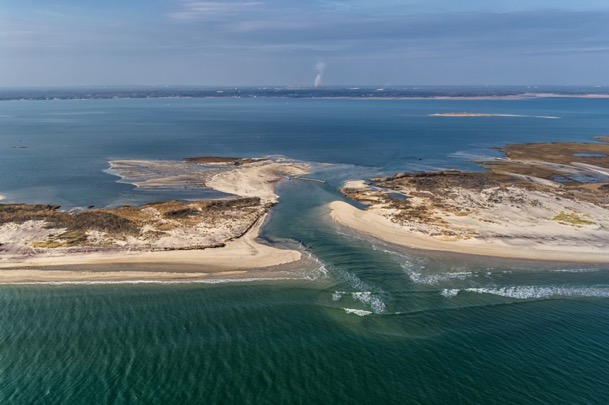 A breach at Old Inlet, Fire Island National Seashore, caused by Hurricane Sandy. Interagency science is supporting efforts to build resilience to coastal storms and other stressors. Source: National Park Service.
