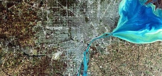 NASA Satellite Image of Detroit, Michigan