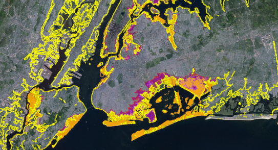 Sea level rise mapping tool