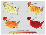 Projected Temperature Change by 2071-2099 (CMIP5 models)