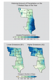 Projected Change in Number of Heavy Precipitation Days