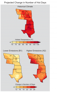 Projected Change in Number of Hot Days