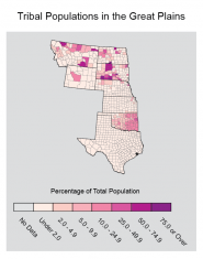 Tribal Populations in the Great Plains