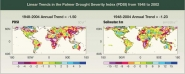 Linear Trends in the Palmer Drought Serverity Index (PDSI) from 1948 to 2002