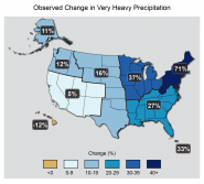 Observed Change in Very Heavy Precipitation