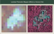 Landsat Thermatic Mapper vs. Ikonos
