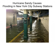 Hurricane Sandy Causes Flooding in New York City Subway Stations