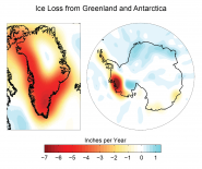 Ice Loss from Greenland and Antarctica