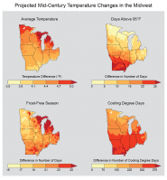 Projected Mid-Century Temperature Changes in the Midwest