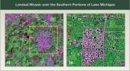 Landsat Mosaic over Lake Michigan