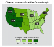 Observed Increase in Frost-Free Season Length