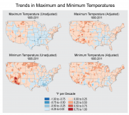 Trends in Maximum and Minimum Temperatures