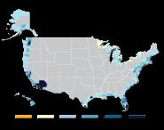 Population Change in U.S. Coastal Watershed Counties (1970-2010)