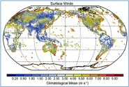 Observed Average Wind Speed in 2010