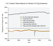 U.S. Carbon Sinks Absorb a Fraction of CO 2 Emissions