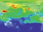 Air Pollution Plume Moving Over the Pacific (a)