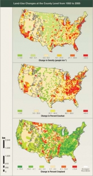 County-Scale Land Use Changes, 1950 to 2000