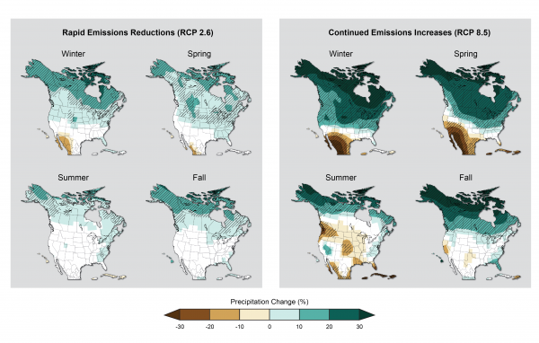 Newer Simulations for Projected Precipitation Change (CMIP5 models)