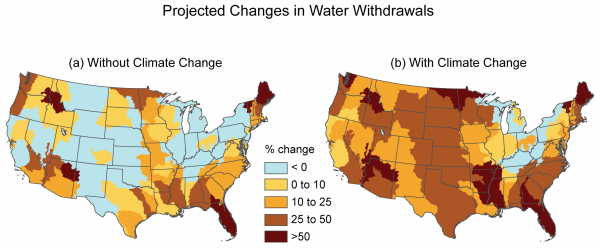 Projected Changes in Water Withdrawals