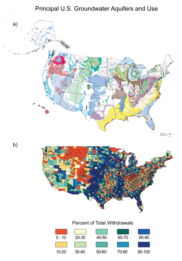 Principal U.S. Groundwater Aquifers and Use