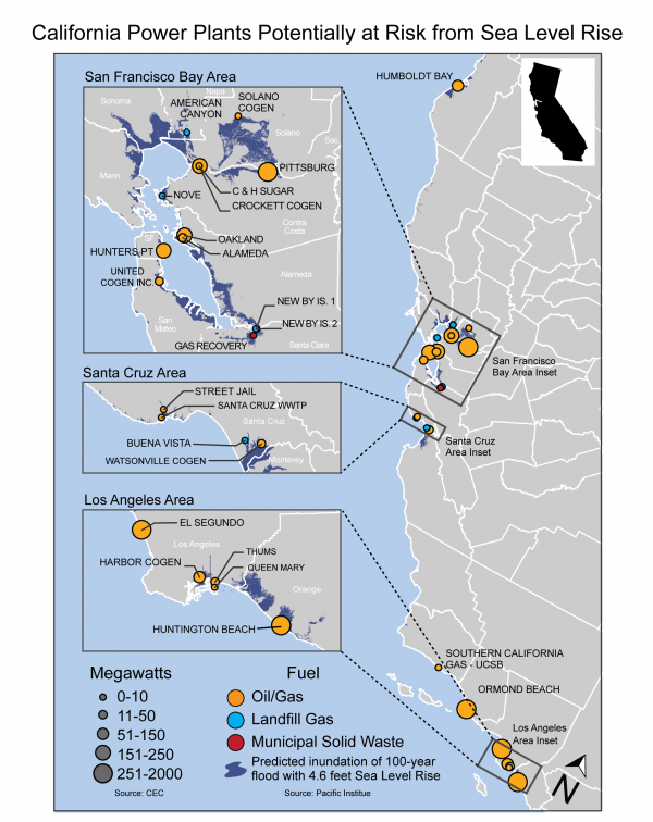 California Power Plants Potentially at Risk from Sea Level Rise