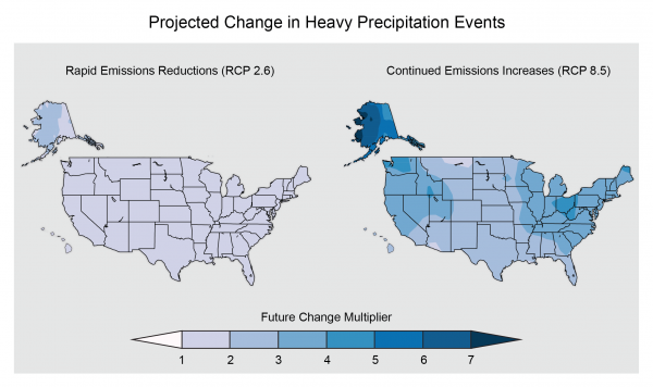 Projected Change in Heavy Precipitation Events