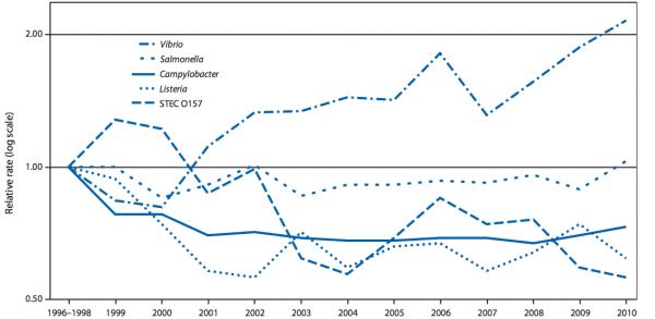 Vibrio Infection Rates