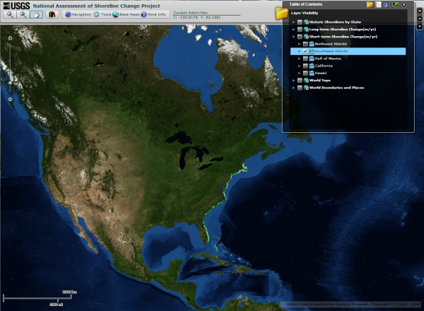 Shoreline Change Mapper