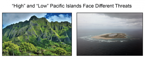 """""""High"""" and """"Low"""" Pacific Islands Face Different Threats"""