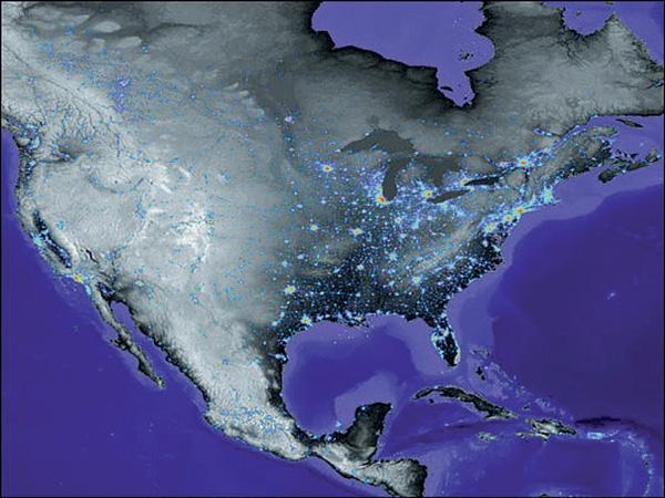 Population Density Map Of North America.Urban Population Density Of North America Globalchange Gov