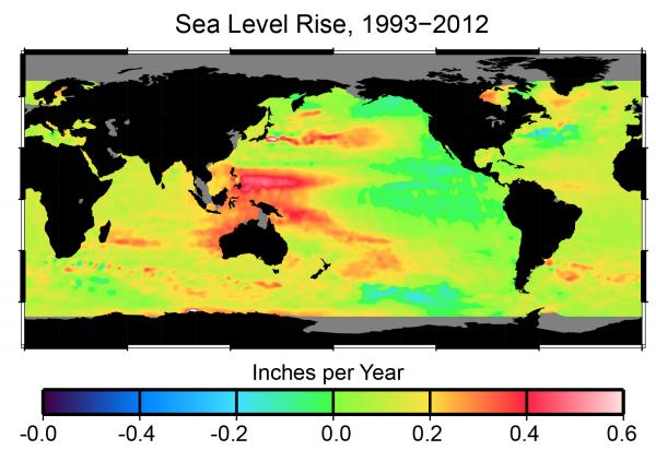 Sea Level Rise, 1993-2012